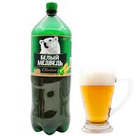俄罗斯进口,大白熊烈性啤酒1400毫升