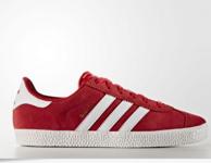成人可穿!adidas 阿迪达斯 Gazelle 2.0 大童款板鞋 红色 26美元约¥174(京东449)