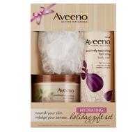 Prime会员:Aveeno 艾维诺 保湿礼盒装含身体乳170g+沐浴露473ml+浴花 凑单直邮到手约78元