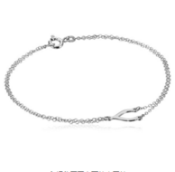 七夕好礼,Amazon Collection 7.5寸纯银如愿骨吊坠手链