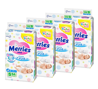 团否? 216枚 Merries花王  纸尿裤 腰贴式 S码