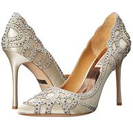 平时零头价!高性价比婚鞋,Badgley Mischka Rouge 女士镶钻高跟鞋