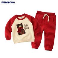 Minizone 加绒保暖卫衣套装