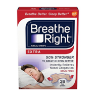 Breathe Right Nasal Strips Extra 通气鼻贴 26片