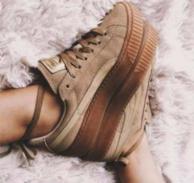 Prime会员:PUMA 彪马 x 蕾哈娜合作款 Basket Platform Core 中性板鞋