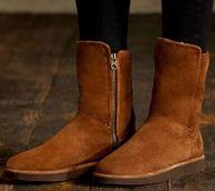 意大利产高端线!内里羊毛10mm,UGG 女士羊皮防水雪地靴