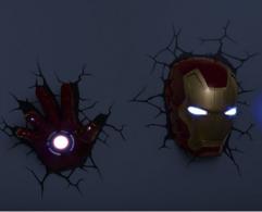 钢铁侠 3D 装饰墙灯 14.98美元约¥99