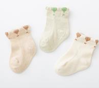 多吉熊 婴儿  彩棉袜子3双装