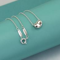 Prime会员:Tiffany & Co 蒂芙尼 心形豌豆项链锁骨链 25185129