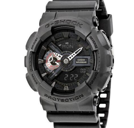 CASIO 卡西欧 G-Shock系列 GA110MB-1A 男士双显运动腕表 71.99美元约¥501 买手党-买手聚集的地方