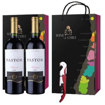 智利进口:Pastor牧羊人 珍藏西拉红葡萄酒750ml双瓶礼盒套装 118元包邮 买手党-买手聚集的地方
