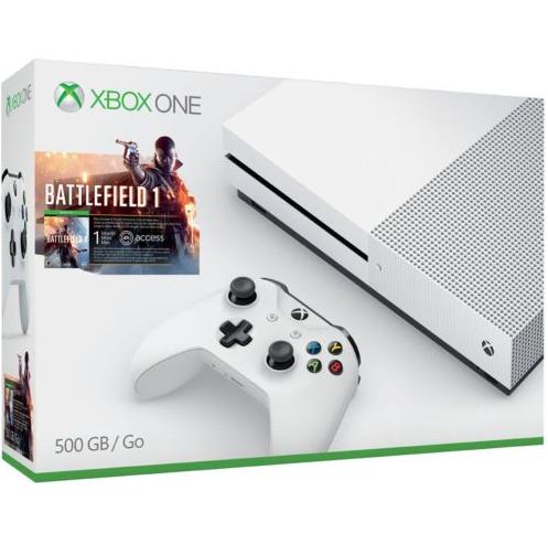 Microsoft微软 Xbox One S 500GB《战地 I》同捆版游戏主机+额外手柄+《幽灵行动荒野》套装 239.99美元约¥1600(京东国行主机2199元) 买手党-买手聚集的地方