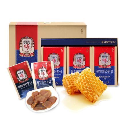 正官庄 6年根高丽参蜂蜜切片礼盒 20g*6包 *2件