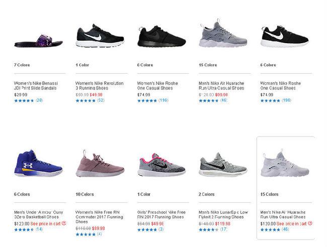 Finish Line 精选鞋款 阶梯满减 满100美元-20美元、满150美元-35美元 买手党-买手聚集的地方