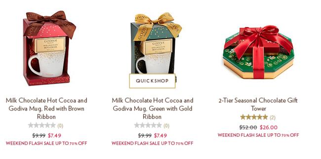 GODIVA美国官网 精选巧克力礼盒闪促 商品低至3折,巧克力低至4美元,满60美元美国境内免邮 买手党-买手聚集的地方