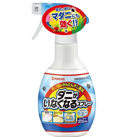 驱除+预防复合效果:KINCHO 金鸟 除螨防螨喷雾 宝宝可用 300ml 500日元约¥26   4.4折 买手党-买手聚集的地方