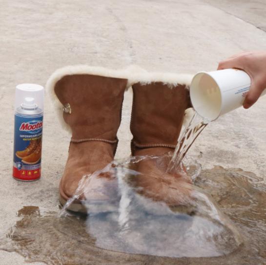 滴水不沾:欧洲进口 mootaa 纳米防水防污鞋靴喷雾 200ml 28元包邮