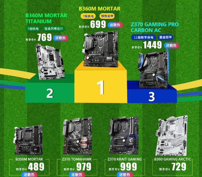 京东  618微星品牌日大促,买主板可赠送CPU/内存/散热器 每满100-10 买手党-买手聚集的地方