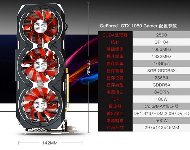 新低:Galaxy 影驰 GTX 1080 GAMER 显卡 券后3599元包邮、3期免息(京东3899元) 买手党-买手聚集的地方