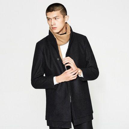 雙11預售:70%羊毛 Me&City 男士 中長款 毛呢大衣 229元(長期售價314元) 買手黨-買手聚集的地方