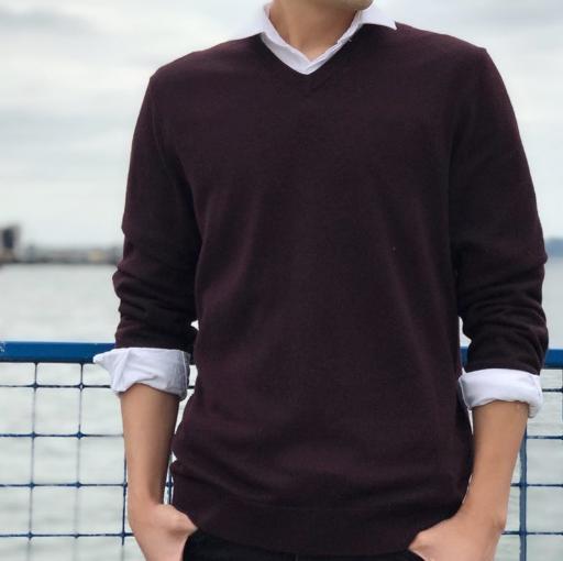 最后1小時!第83期團購!100%美麗奴羊毛!Calvin Klein 2018款 男式V領羊毛衫衫 團購到手價217元(天貓1500-2500元) 買手黨-買手聚集的地方