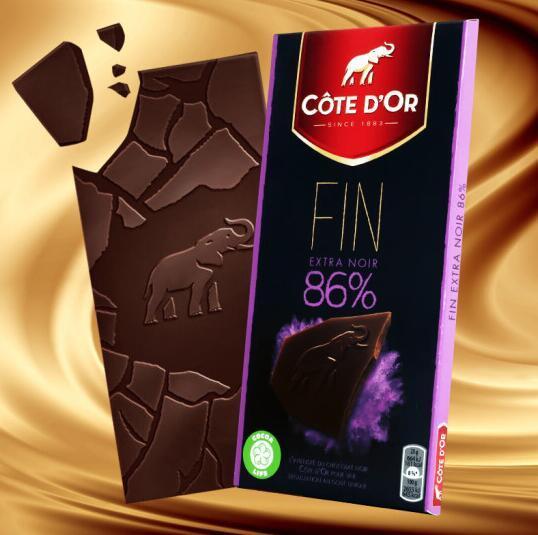 最好吃的巧克力之一!9件x100g COTE D'OR 克特多 金象 86%可可黑巧克力 礼盒装 104.32元包邮 买手党-买手聚集的地方