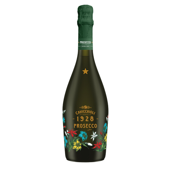 750mlx3瓶 CAVICCHIOLI 卡维留里 意大利之花 普劳塞考绝 干高泡葡萄酒