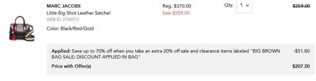 Marc Jacobs Little Big Shot 皮质邮差包 207.2美元约¥1404 买手党-买手聚集的地方