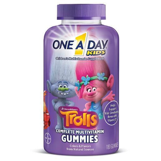 PrimeDay:德国拜耳旗下 One A Day Trolls魔法精灵款 儿童多种复合维生素软糖 180粒 prime会员凑单直邮含税到手约65.24元 买手党-买手聚集的地方