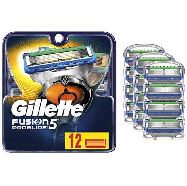 12片,Gillette 吉列 Fusion5 ProGli 男士刮胡刀刀片 到手约192.2元包邮包税 买手党-买手聚集的地方