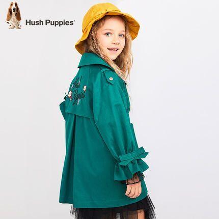 Hush Puppies 暇步士 19年新款 女童 薄款风衣外套 130元券后168元包邮