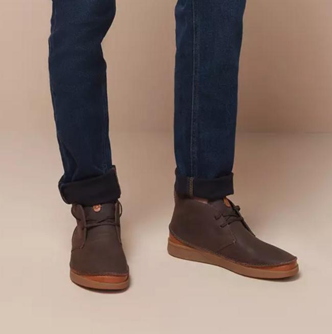 on feet at elegant shoes buy cheap 值哭!限43码,Clarks 其乐Oakland Rise 男士牛皮系带休闲短靴 ...
