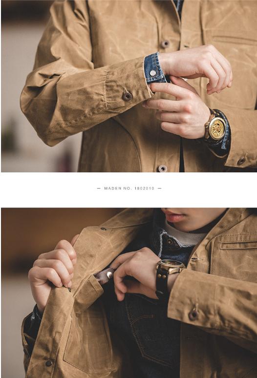 可站起来的外套:马登 男美式重磅油蜡帆布夹克 143.9元包邮 买手党-买手聚集的地方