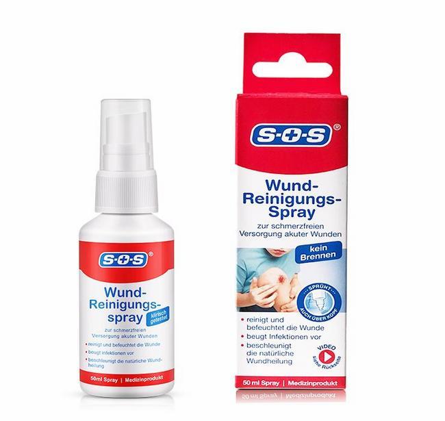 德国进口、无痛抑菌、儿童可用:50ml SOS 伤口清洁消毒液体喷雾 74元包邮 买手党-买手聚集的地方