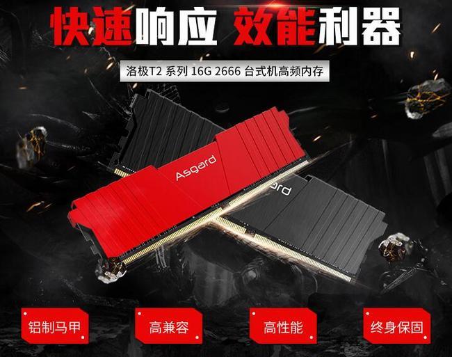 限今日:Asgard/阿斯加特 洛極T2 16GB DDR4 鋁制馬甲臺式機內存條 369元包郵 買手黨-買手聚集的地方