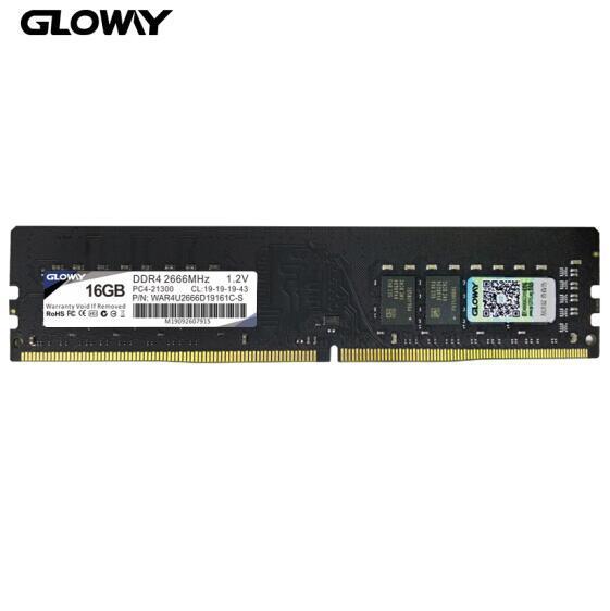 19日0点: Gloway 光威 战将 DDR4 2666频率 台式机内存 16G 269元包邮 买手党-买手聚集的地方