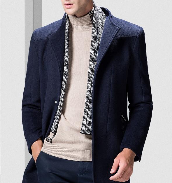 清倉特價,50%羊毛,26款:羅蒙 男士 中長款羊毛大衣外套 券后149元包郵 買手黨-買手聚集的地方
