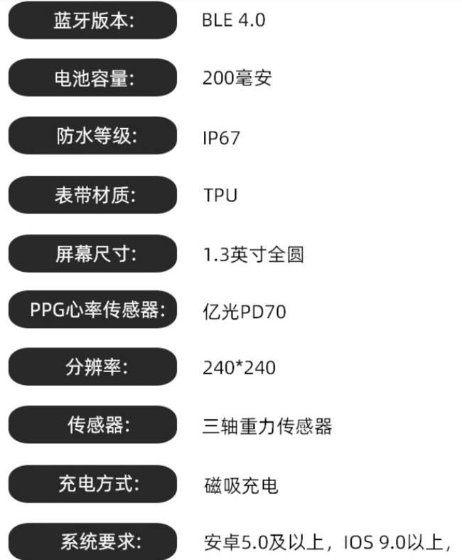 全天候血压+心率、磁吸充电!MIWA 华为通用智能手表 券后228元包邮 6期免息分期 买手党-买手聚集的地方