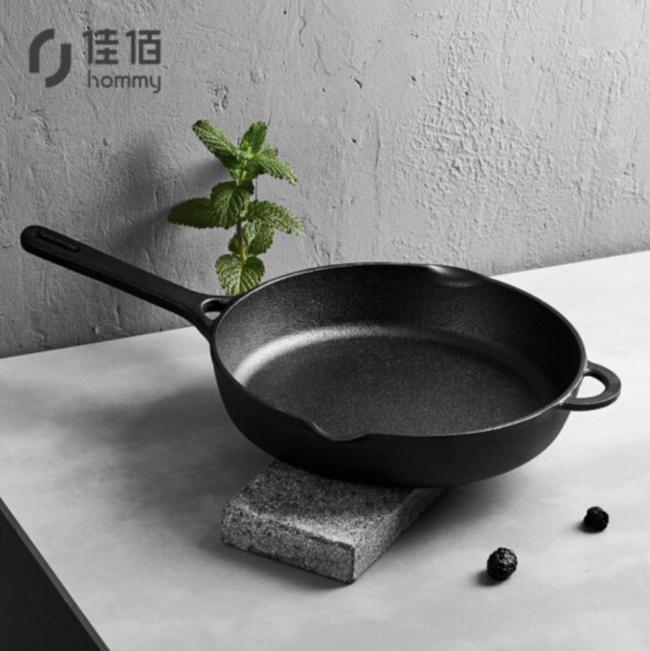 23日14点:净重2.62kg,佳佰 JBJG-ZT26D 铸铁煎锅 26cm 79元(长期148元) 买手党-买手聚集的地方