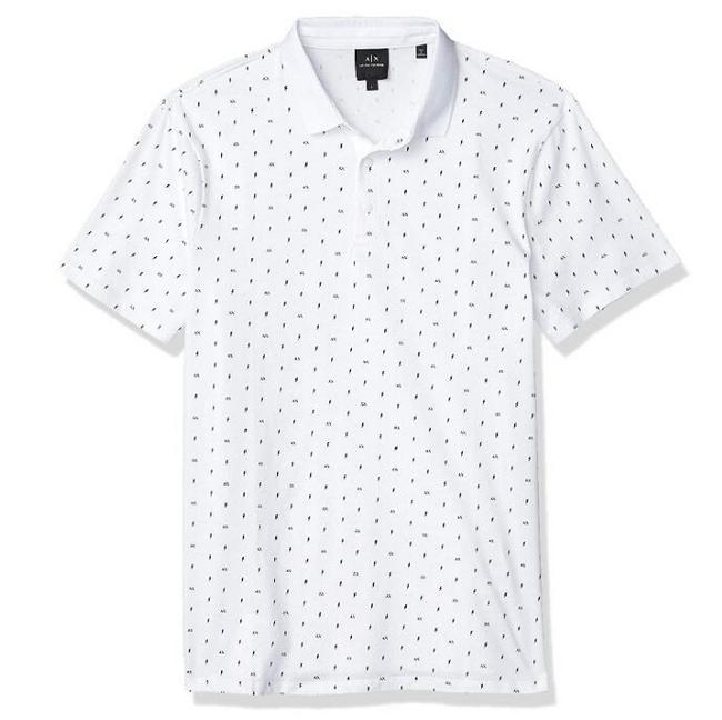 阿瑪尼副牌,A|X Armani Exchange 男士 修身印花短袖針織Polo衫 Prime直郵到手292元(天貓518元) 買手黨-買手聚集的地方