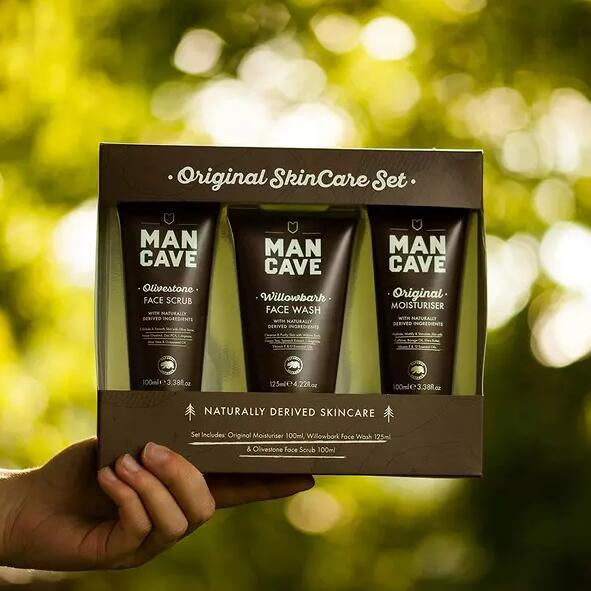 ManCave Originals 男士护肤3件套 磨砂膏100ml+洁面乳125ml+乳液100ml 119元包邮 买手党-买手聚集的地方