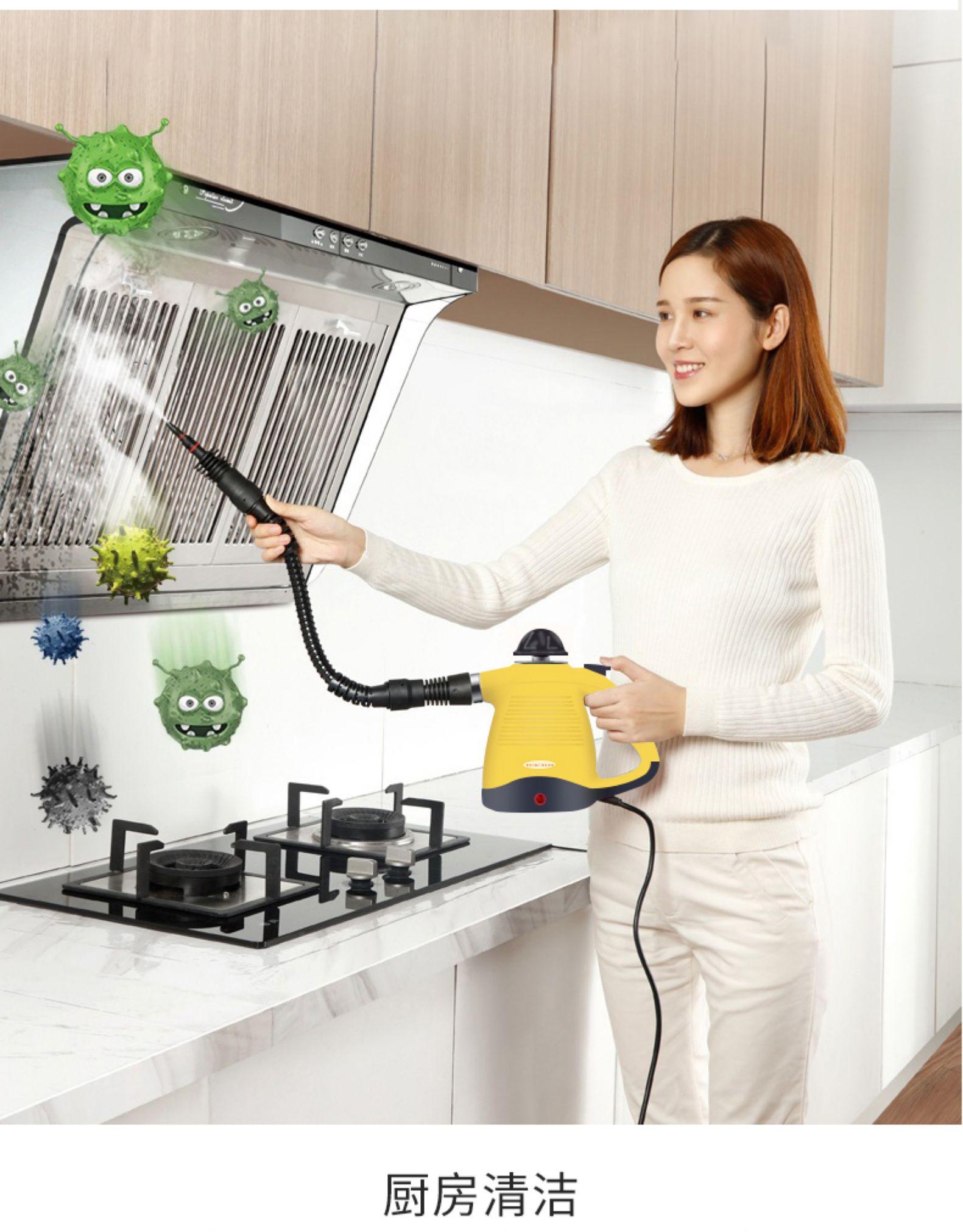 持平史低,除菌去油一步到位:贝奇熊 多功能手持高压高温蒸汽清洁机 99元包邮,带全套配件 买手党-买手聚集的地方