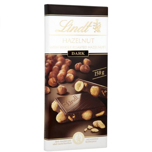 Lindt瑞士莲 原粒榛子黑巧克力 150gx13件 342.2元直邮到手,3件9.2折 买手党-买手聚集的地方